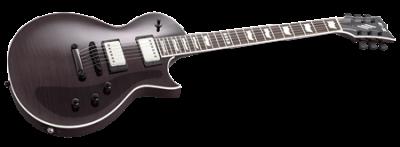 ESP E-II Eclipse FM EMG See-thru Black
