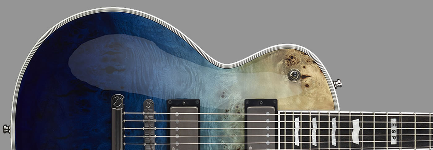 E-II Eclipse Burl Maple Blue Natural Fade