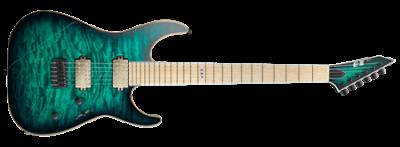 E-II M-II NT Hipshot Black Turquoise Burst