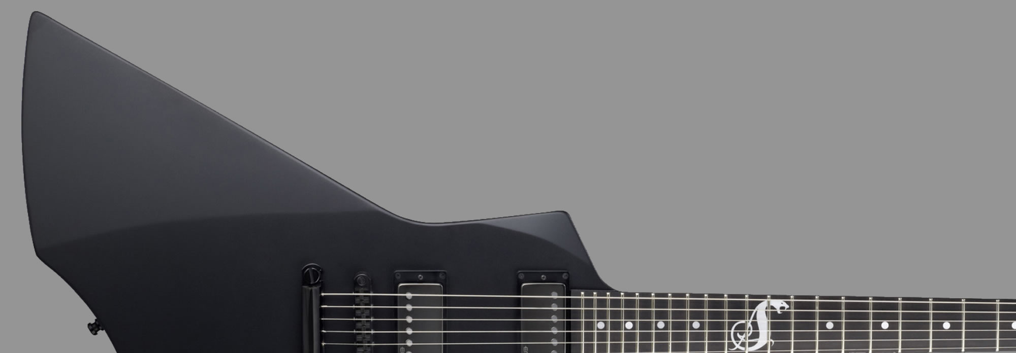 ESP Snakeybte Black Satin