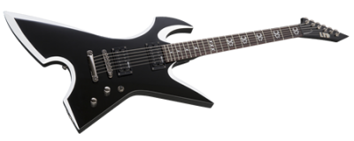 ESP LTD MAX-200 RPR Black with White Bevels