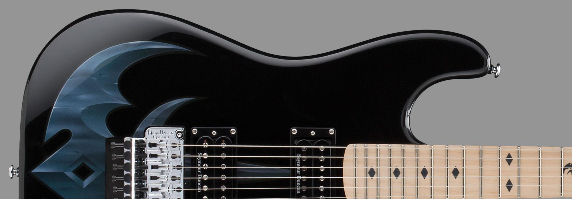 ESP LTD Michael WiltonMW-TR1 Black with Tri-Ryche Graphic