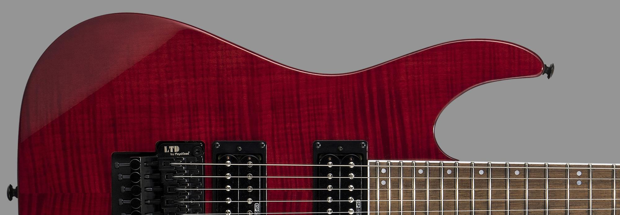 ESP LTD M-200FM See-Thru Red