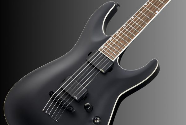 ESP LTD MH-400B Baritone Black Satin