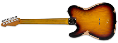 ESP LTD TE-254 Distressed 3-Tone Sunburst