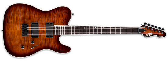 ESP LTD TE-401FM Dark Brown Sunburst