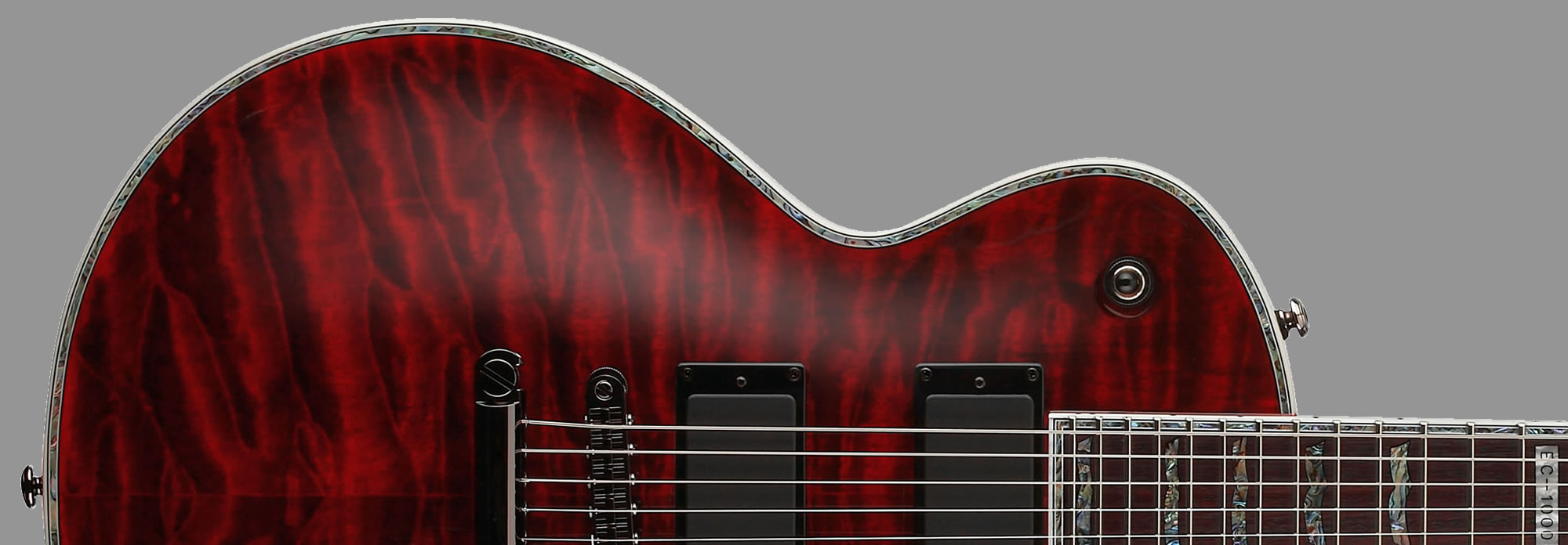 ESP LTD EC-1000QM See-Thru Black Cherry