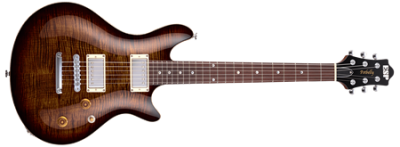 ESP Potbelly Tiger Eye Sunburst