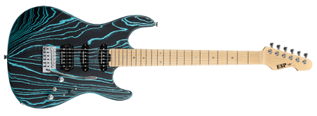 ESP Driftwood Series Snapper-AS/M-BR Black with Blue Filler