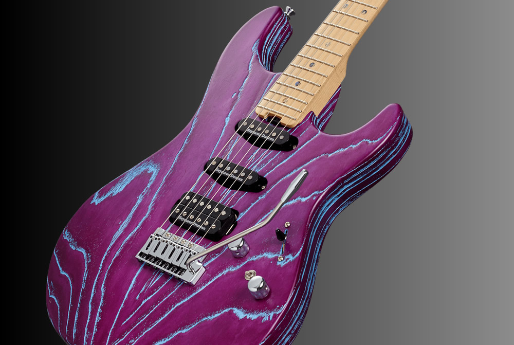 ESP Driftwood Series Snapper-AS/M-BR Indigo Purple with Blue Filler